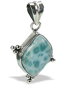 Green Larimar Silver Setting Pendants