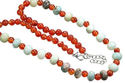 Simple-strand Carnelian Necklaces