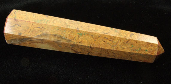 Brown Yellow Fossil Jasper  Wand for Healing 4 Inches