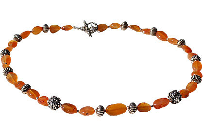 CARNELIAN BEADED ORANGE NECKLACES