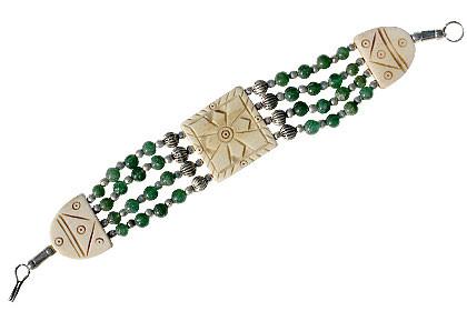 Multi-color Multi-stone Beaded Bracelets 7.5 Inches