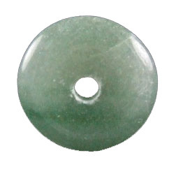 Green Aventurine Beaded Donut Pendants 1 Inches