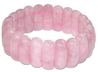 Pink Rose Quartz Beaded Chunky Bracelets 6 Inches