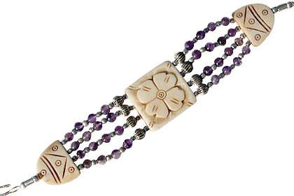 Multi-color Multi-stone Beaded Bracelets 8 Inches