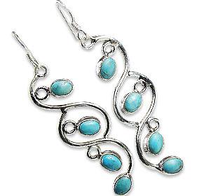 American-southwest Turquoise Earrings 2