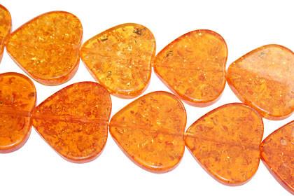 Orange Yellow Amber Beaded Beads 16 Inches
