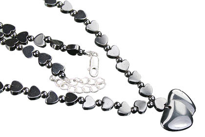 Heart Hematite Necklaces