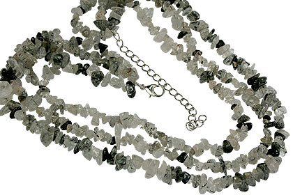 Black Tourmalated Quartz Necklace 7