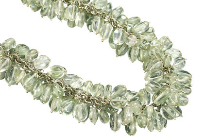 Clustered Green Amethyst Necklaces