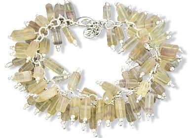 Clustered Fluorite Bracelets