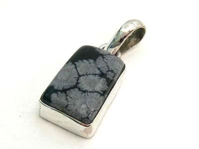 Snowflake Obsidian Pendant 6