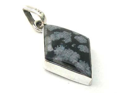 Snowflake Obsidian Pendant 9
