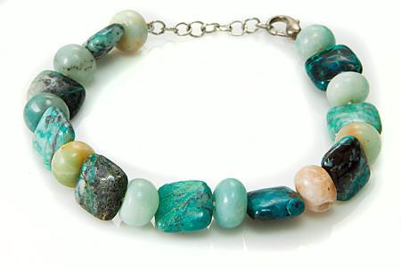 Ethnic Chrysocolla Bracelets