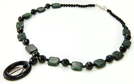 Banded Onyx And Jasper Necklace