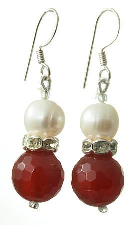Carnelian And Pearl Earrings 2
