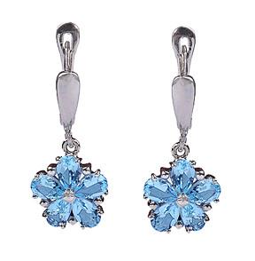 Sterling Silver Blue Topaz Earrings 2
