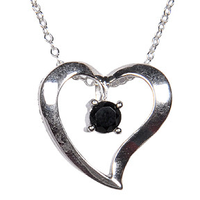 Heart Black Spinel Necklaces