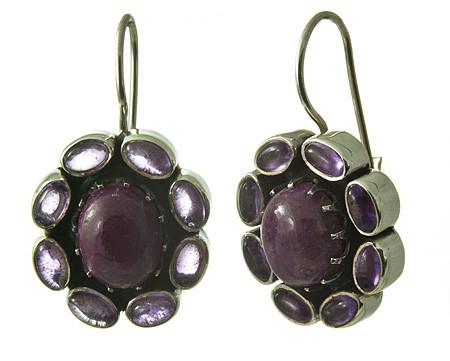 Flower Ruby Earrings