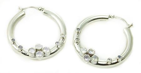 White Topaz Earrings 6