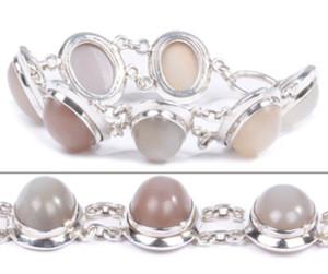 Peach Moonstone Bracelet 2