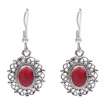 Gothic-medieval Garnet Earrings