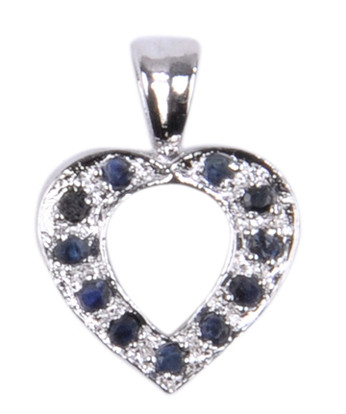 Heart Sapphire Pendants