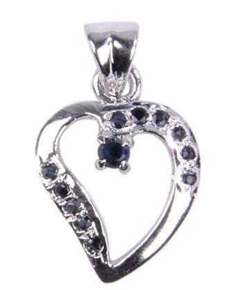 Heart Sapphire Pendants 2