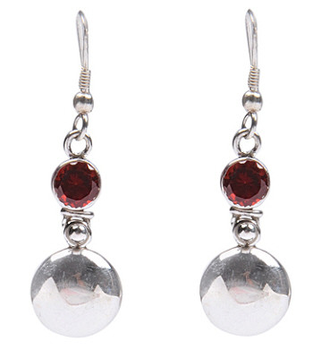 Estate Garnet Earrings 2