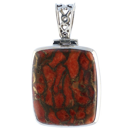 Red Copper Turquoise Pendant 2