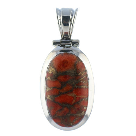 Red Copper Turquoise Pendant 5