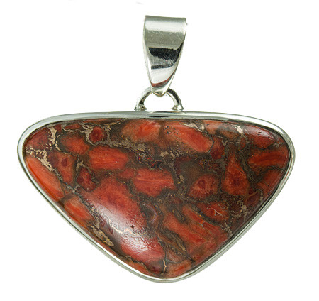 Red Copper Turquoise Pendant 6