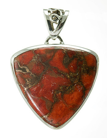 Red Copper Turquoise Pendant 8