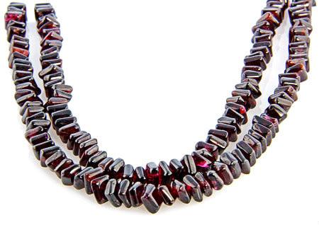 Multistrand Garnet Necklaces 3