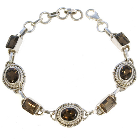 Ethnic Smoky Quartz Bracelets