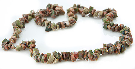 Chipped Unakite Necklaces