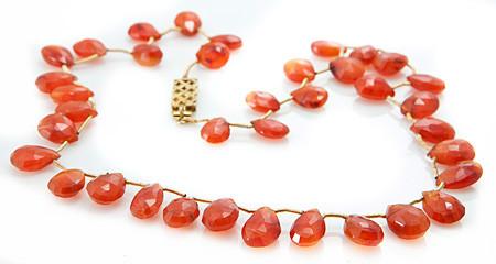 Briolettes Carnelian Necklaces 2