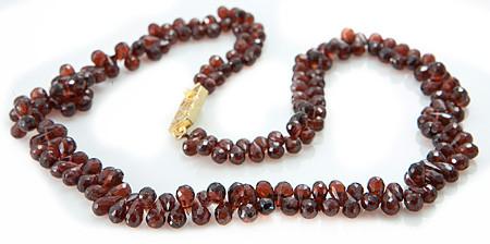 Briolettes Garnet Necklaces