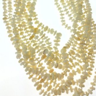 White Mother-of-pearl Gemstones Clustered Necklaces 30 Inches