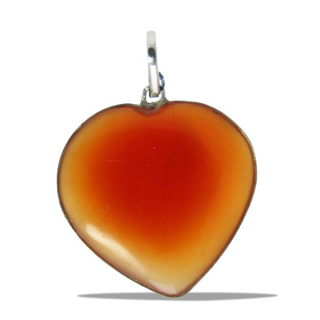 Orange Onyx Silver Setting Healing