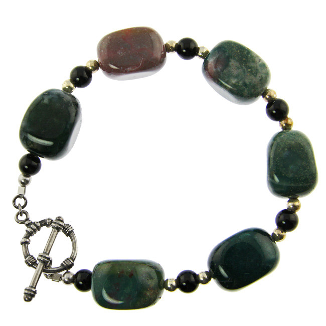 Multi-color Jasper Silver Setting Bracelets