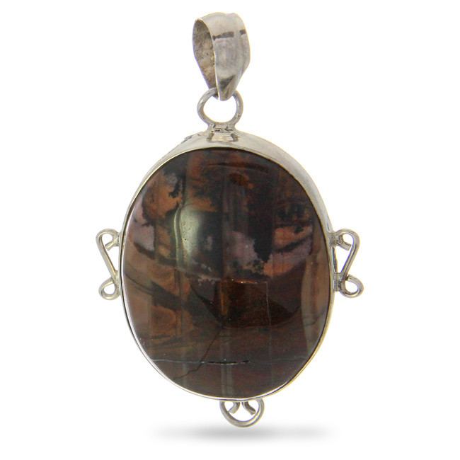 Brown Agate Silver Setting Pendants