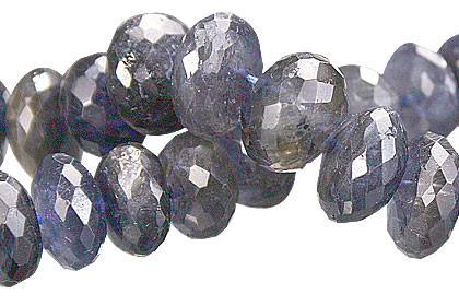 Blue Iolite Beaded Beads