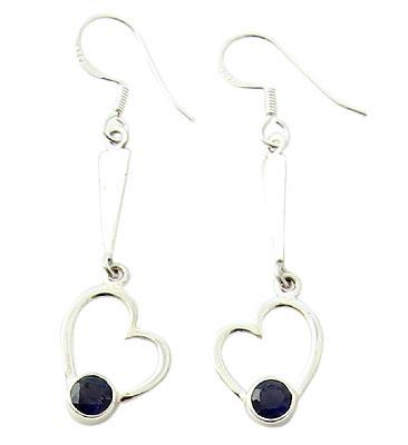Blue Iolite Silver Setting Earrings
