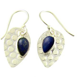 Blue Lapis Lazuli Silver Setting Earrings