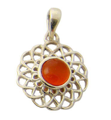 Orange Carnelian Silver Setting Pendants