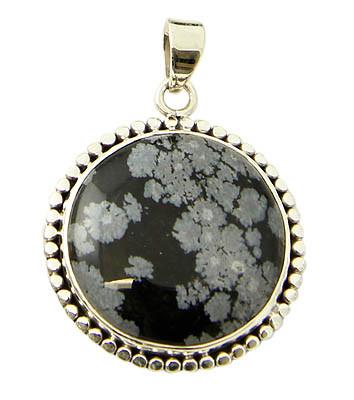 Black Obsidian Silver Setting Pendants