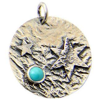 Blue Turquoise Silver Setting Pendants