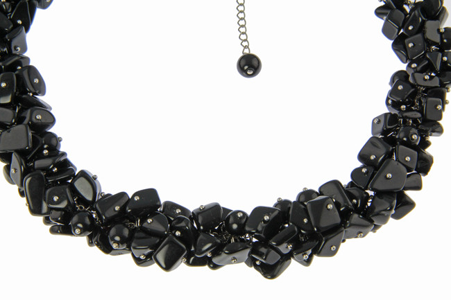 Black Onyx Silver Setting Necklaces