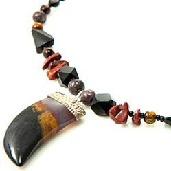 Multi-color Multi-stone Silver Setting Necklaces