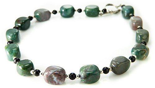 Green Jasper Silver Setting Necklaces